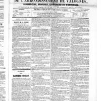 Le Journal de l'arrondissement de Valognes, numéro du 25 août 1865