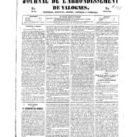 Le Journal de l'arrondissement de Valognes, numéro du 04 janvier 1850