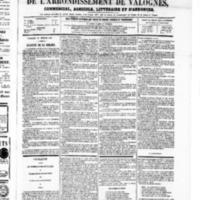 Le Journal de l'arrondissement de Valognes, numéro du 22 février 1867