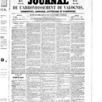 Le Journal de l'arrondissement de Valognes, numéro du 17 octobre 1856