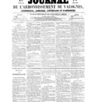 Le Journal de l'arrondissement de Valognes, numéro du 22 octobre 1858