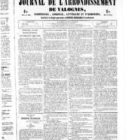 Le Journal de l'arrondissement de Valognes, numéro du 13 août 1852