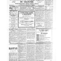 Le Journal de l'arrondissement de Valognes, numéro du 23 février 1935