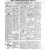 Le Journal de l'arrondissement de Valognes, numéro du 15 janvier 1909