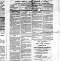 Le Journal de l'arrondissement de Valognes, numéro du 23 avril 1886