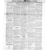 Le Journal de l'arrondissement de Valognes, numéro du 15 mars 1913