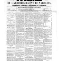 Le Journal de l'arrondissement de Valognes, numéro du 03 juin 1859