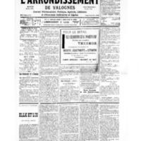 Le Journal de l'arrondissement de Valognes, numéro du 29 juin 1935