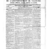 Le Journal de l'arrondissement de Valognes, numéro du 18 juin 1886