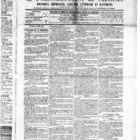 Le Journal de l'arrondissement de Valognes, numéro du 05 mars 1886