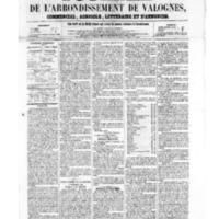 Le Journal de l'arrondissement de Valognes, numéro du 09 septembre 1859