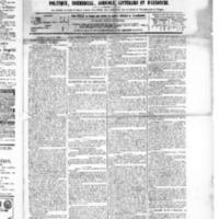 Le Journal de l'arrondissement de Valognes, numéro du 13 mars 1885