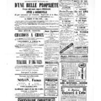 Le Journal de l'arrondissement de Valognes, supplément au numéro du 29 avril 1881