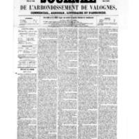 Le Journal de l'arrondissement de Valognes, numéro du 08 juillet 1859