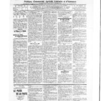 Le Journal de l'arrondissement de Valognes, numéro du 29 janvier 1909