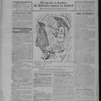 Le Coup de canon, numéro du 16 janvier 1918