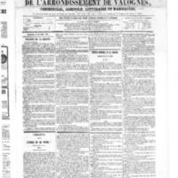 Le Journal de l'arrondissement de Valognes, numéro du 27 octobre 1865