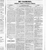 Le Journal de l'arrondissement de Valognes, numéro du 06 décembre 1850