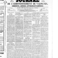 Le Journal de l'arrondissement de Valognes, numéro du 28 novembre 1856