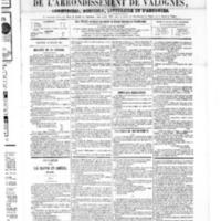 Le Journal de l'arrondissement de Valognes, numéro du 14 juillet 1865