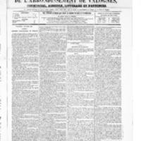 Le Journal de l'arrondissement de Valognes, numéro du 23 août 1867