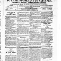 Le Journal de l'arrondissement de Valognes, numéro du 04 décembre 1868