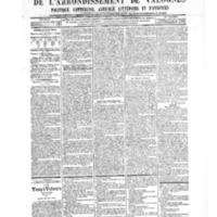 Le Journal de l'arrondissement de Valognes, numéro du 17 novembre 1905