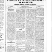 Le Journal de l'arrondissement de Valognes, numéro du 16 janvier 1852