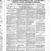 Le Journal de l'arrondissement de Valognes, numéro du 18 août 1865