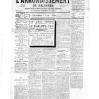 Le Journal de l'arrondissement de Valognes, numéro du 05 mai 1934
