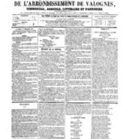 Le Journal de l'arrondissement de Valognes, numéro du 29 décembre 1865