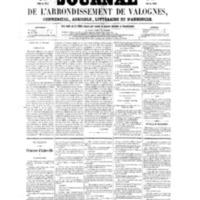 Le Journal de l'arrondissement de Valognes, numéro du 01 octobre 1858