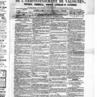 Le Journal de l'arrondissement de Valognes, numéro du 04 juillet 1879
