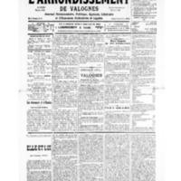 Le Journal de l'arrondissement de Valognes, numéro du 12 octobre 1935