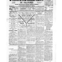 Le Journal de l'arrondissement de Valognes, numéro du 03 novembre 1934
