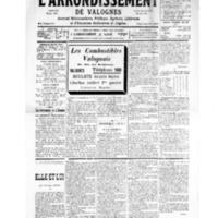 Le Journal de l'arrondissement de Valognes, numéro du 05 janvier 1935