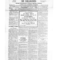 Le Journal de l'arrondissement de Valognes, numéro du 18 octobre 1930