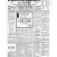 Le Journal de l'arrondissement de Valognes, numéro du 26 août 1939