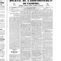 Le Journal de l'arrondissement de Valognes, numéro du 01 mars 1850