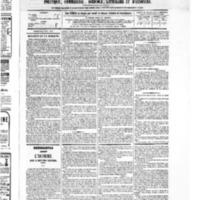 Le Journal de l'arrondissement de Valognes, numéro du 02 avril 1875