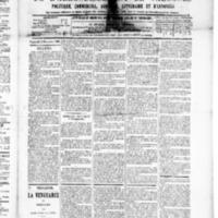 Le Journal de l'arrondissement de Valognes, numéro du 12 décembre 1890