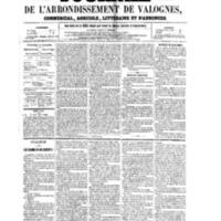 Le Journal de l'arrondissement de Valognes, numéro du 18 novembre 1859
