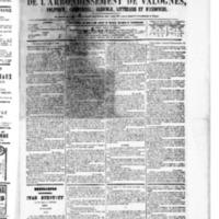 Le Journal de l'arrondissement de Valognes, numéro du 03 décembre 1880