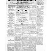 Le Journal de l'arrondissement de Valognes, numéro du 10 mars 1934