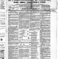 Le Journal de l'arrondissement de Valognes, numéro du 28 mai 1880
