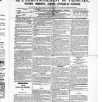 Le Journal de l'arrondissement de Valognes, numéro du 17 octobre 1879