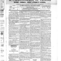 Le Journal de l'arrondissement de Valognes, numéro du 10 décembre 1875