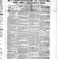 Le Journal de l'arrondissement de Valognes, numéro du 13 février 1880