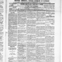 Le Journal de l'arrondissement de Valognes, numéro du 28 juin 1889