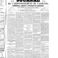Le Journal de l'arrondissement de Valognes, numéro du 29 mars 1856